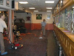 cleaning carpets at a bar in Colchester