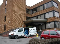 Set up for 3 floors of commercial carpet cleaning
