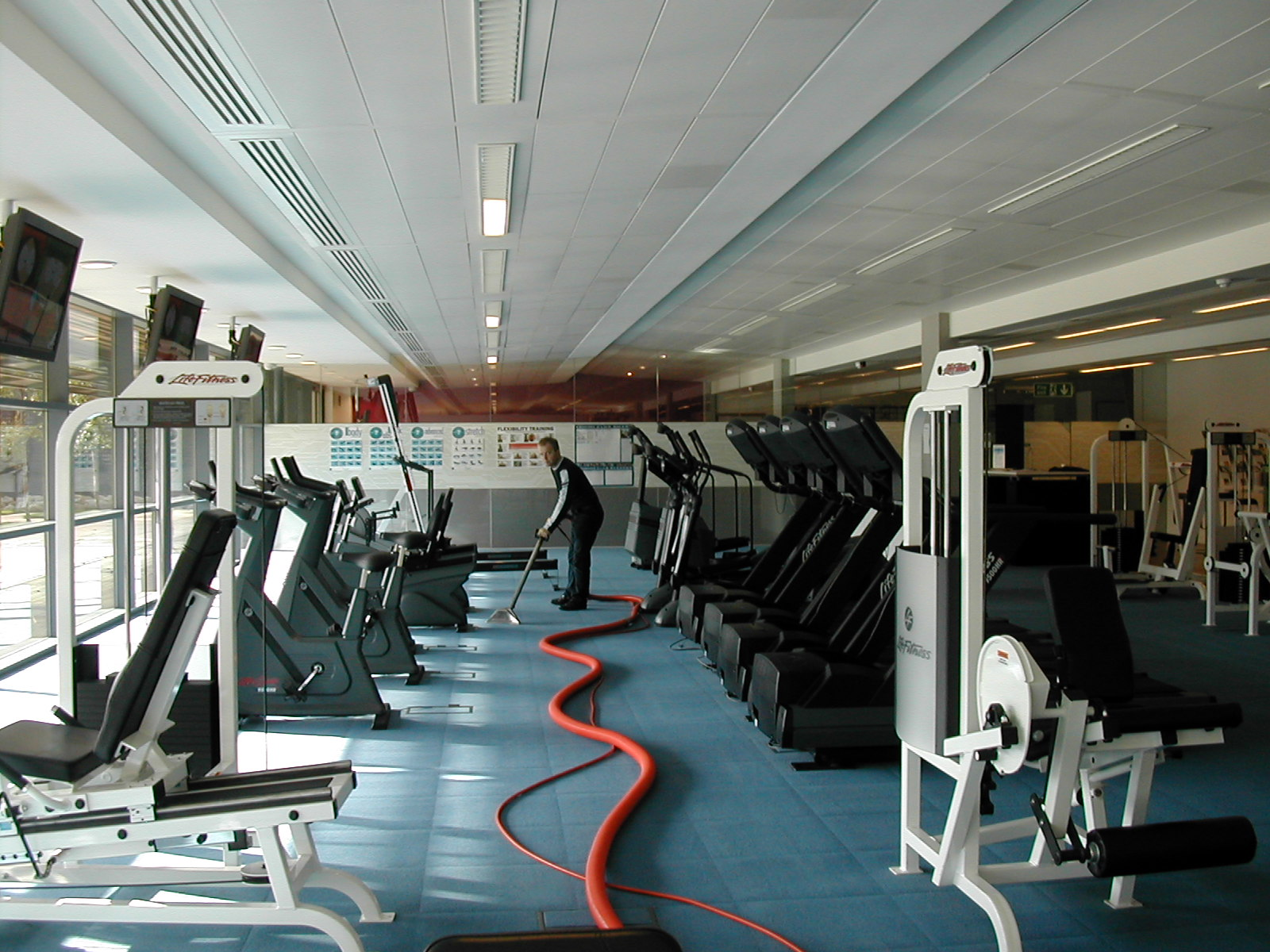 Keeping fit carpet cleaning at the gym