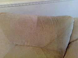 Half Cleaned Cushion